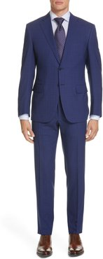 Siena Soft Regular Fit Plaid Wool Suit