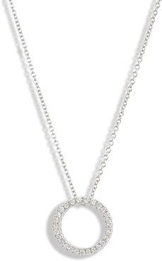 3D Small Diamond Circle Pendant Necklace (Nordstrom Exclusive)