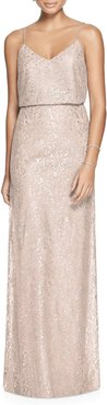 Metallic Lace Two-Piece Gown