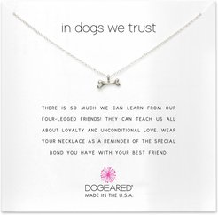 In Dogs We Trust Pendant Necklace