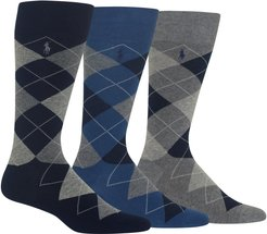 3-Pack Argyle Socks