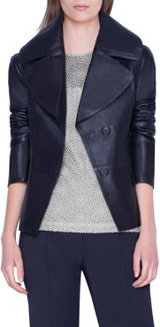 Exaggerated Lapels Leather Jacket