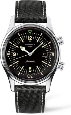 Heritage Legend Diver Automatic Synthetic Strap Watch, 42Mm