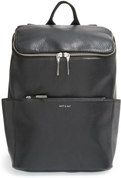 'Brave' Faux Leather Backpack -