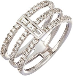 Baguette Bar Three-Row Diamond Ring (Nordstrom Exclusive)