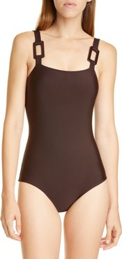 Solid One-Piece Swimsuit