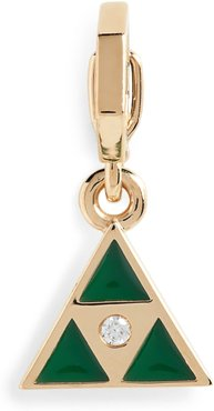 Open Bale Triangle Enhancer Pendant With Diamond