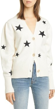Morgan Star Embroidered Cotton Blend Cardigan