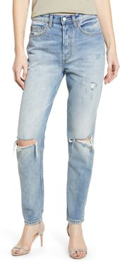 The Billy Ripped High Waist Ankle Skinny Jeans