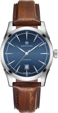 Spirit Of Liberty Automatic Leather Strap Watch, 42Mm