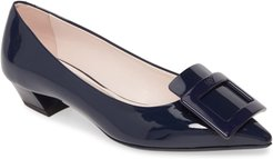 Gommettine Buckle Pointed Toe Pump