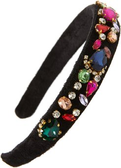 Thick Velvet Jeweled Headband