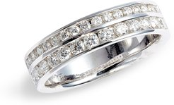 Audrey Double Row Diamond Band