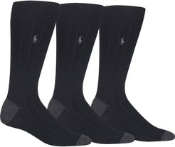 3-Pack Ribbed Socks