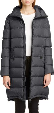 High/low Quilted Down Long Puffer Coat