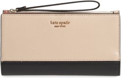 Spencer Continental Leather Wristlet -