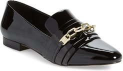 Nikki Buckle Patent Leather Loafer