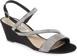 Naloni Crystal Embellished Wedge Sandal