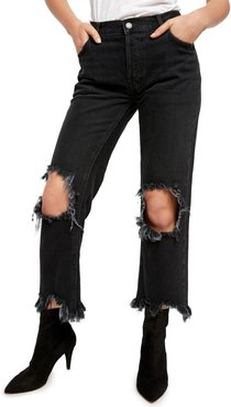 Maggie Distressed Straight Leg Jeans