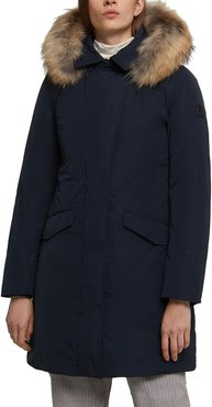 Modern Vail 700 Fill Power Down Coat With Genuine Coyote Fur Trim