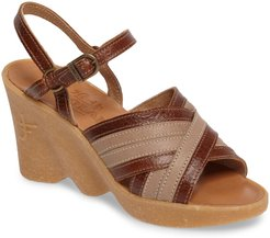 Double Cross Wedge Sandal