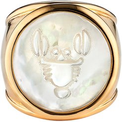 Zodiac Mother-Of-Pearl Ring