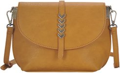 Arrow Faux Leather Crossbody Bag - Yellow