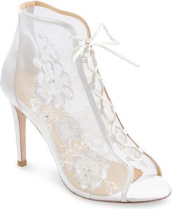Angelina Alencon Lace-Up Bootie