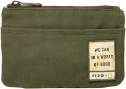 X National Geographic Zip Pouch - Green