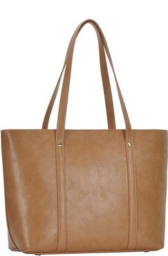 Faux Leather Tote -