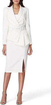 Two-Piece Asymmetrical Belted Suit