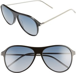 Godspeed 58Mm Aviator Sunglasses - Black