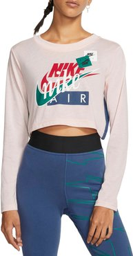 Sportswear Air Force 1 Stacked Logo Crop Tee