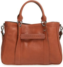 'small 3D' Leather Tote -