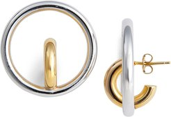 Saturn Blow Medium Hoop Earrings