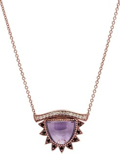 'I Purify What I See' Small Amethyst Third Eye Necklace