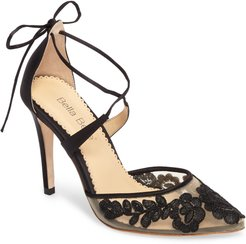 Anita Illusion Lace Cross Strap Pump