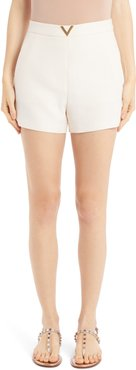 Vlogo Wool & Silk Crepe Couture Shorts