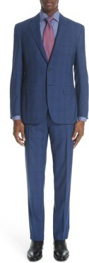 Siena Classic Fit Plaid Wool Suit