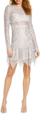 Clara Crochet Lace Long Sleeve Cocktail Dress