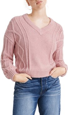 Augustus Cable Knit V-Neck Sweater