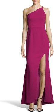 One-Shoulder Crepe Evening Dress