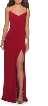 Ruched Soft Jersey Gown