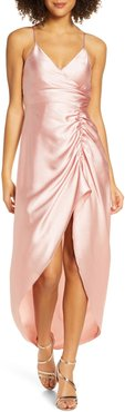 Bridgette Ruched Slit Gown