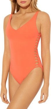 Twister Lace One-Piece Swimsuit
