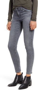 The Legging Ombre Plaid Ankle Skinny Jeans