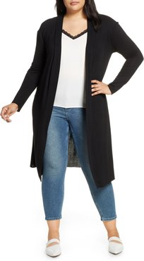 Plus Size Women's Dantelle Long Cardigan