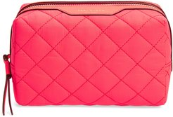 Small Perry Quilted Nylon Cosmetics Case