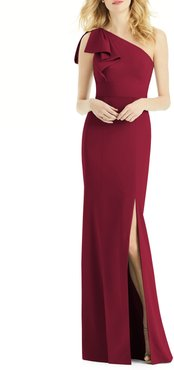 Bow One-Shoulder Gown