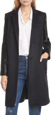 Huston Wool, Cashmere & Genuine Calf Hair Coat